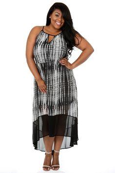 3b8e80874c8 Two-Tone Maxi Dress. Plus Size ...
