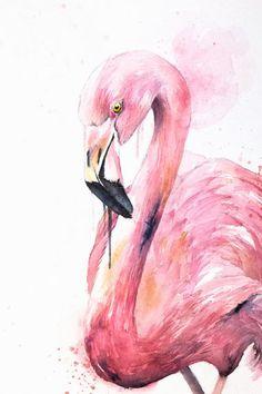 Flamingo Painting, Flamingo Art, Watercolor Illustration, Watercolor Paintings, Flamingo Pictures, Nature Sketch, Denim Art, Cow Art, Sewing Art