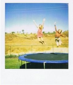 trampolines :) the kids, laughs, yelling, arguing.....and even laying in the sun (haha tanning)& looking up at the stars under a blanket..