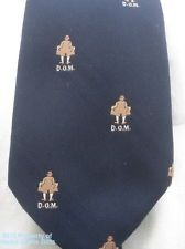 Neck Tie FLASHER D.O.M. DIRTY OLD MAN Hat Trench Coat USA Navy Blue '82 Perfect