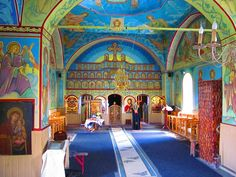 All the Colors of Creation More Orthodox church interiors: http://whispersofanimmortalist.blogspot.com/2015/04/church-interior-1.html