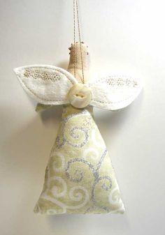 SALE Folk Art Angel Doll Ornament ... by theresa hutnick