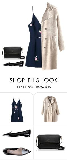 """""""There is no place to go"""" by marianaftmendes ❤ liked on Polyvore featuring Miu Miu, Kate Spade, women's clothing, women's fashion, women, female, woman, misses, juniors and bhalo"""