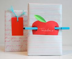 willowday: GIFT WRAP: An Apple for the Teacher