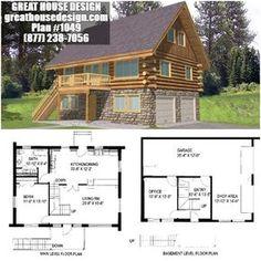Log Home Plans with Garage Inspirational Narrow Lot Log House Plan 1049 toll Free 877 238 7056 Log Cabin House Plans, Cabin Plans With Loft, Small Cabin Plans, Narrow House Plans, Small Log Cabin, Log Home Plans, Cottage Floor Plans, Log Cabin Homes, Modern House Plans