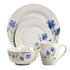 Tabletops Gallery Wildflower 16 Pc. Dinnerware Set