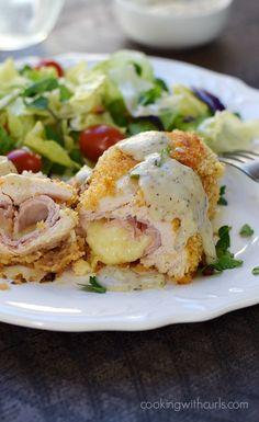 ... chicken cordon bleu chicken cordon bleu with a creamy dijon gravy is
