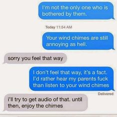 Wrong Place, Wrong Chime is listed (or ranked) 4 on the list 26 Hilarious Texts from Terrible Neighbors Scary Text, Weird Text, Bad Neighbors, Writing Romance, Text Conversations, You've Got Mail, Passive Aggressive, Seriously Funny, Funny Text Messages