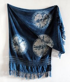 Double Luna Handwoven Cotton Natural Indigo by SquidWhaleDesigns, $90.00