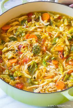 Healthy Meals The Best Southwest Chicken Detox Soup Recipe - Southwest Chicken Detox Soup Recipe - A healthy low-fat, low-carb, gluten-free soup with tons of flavor. This southwest chicken soup packs a punch! Diet Recipes, Cooking Recipes, Healthy Recipes, Cleanse Recipes, Recipies, Delicious Recipes, Cooking Fish, Cheap Recipes, Cooking Games