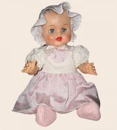 Betsy Wetsy doll came out in 1959. I remember carrying her around like a real baby, feeding her and then changing her diaper. My Mom got a little tired of always having to fill her bottle with water!! LOL!!!