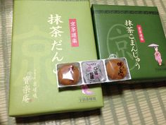 From Kyoto, Japanese green tea sweets.