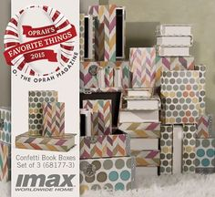 Congratulations to IMAX for having product selected for O, The Oprah Magazine's biggest list of Oprah's Favorite Things EVER in the December issue (on newsstands nationwide November 10th). Look for the Confetti Book Boxes on page 66!  #favoritethings2015 @oprahmagazine #congratulations