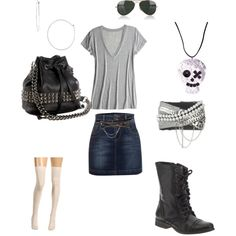 punk chic, created by jaki-717 on Polyvore