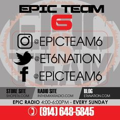 For informational purposes. Stay connected to the brand on all fronts. Hit up our entertainment blog store site radio show and every social media account. #epicteam6 #clothing #culture #independent #brand #urban #street #nyc #skatelife #streetwear #custom #design #fashion #icon #waves #fly #fresh #business #entrepreneur #dope #music #hiphop #legacy #tradition #ambition #determination #waves #paperchase