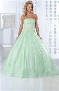 Strapless Sleeveless Floor-length Beading Quinceanera Dress