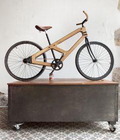 le Vélo bois - Bois et Cuir par Damien Beal