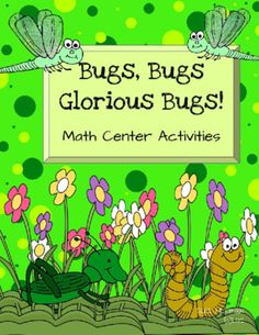 Math Centers: Bugs and Insects from Sara Hickman on TeachersNotebook.com -  (24 pages)  - Four hands on math activities for your bug and insect unit.