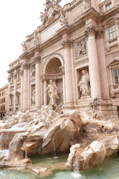 The Trevi Fountain is a fountain in the Trevi district in Rome, Italy, designed . Angel Aesthetic, Beige Aesthetic, Aesthetic Photo, Travel Aesthetic, Aesthetic Art, Aesthetic Pictures, Baroque Architecture, Beautiful Architecture, Ancient Architecture