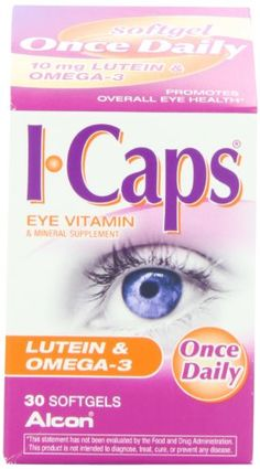 icaps lutein and omega 3 eye vitamin 1000 topseller