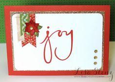 Lisa's Creative Corner: Picture My Life 'Joy' Christmas Card