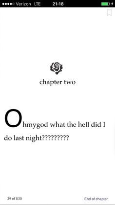 Isla and the happily ever after --- No, like legitimately... that's all of Chapter 2. XD
