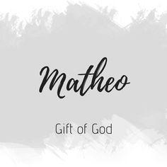 Matheo names 2019 names classic names irish names italian names southern