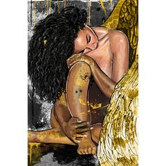 Decorate your home with the beautiful Maxwell Dickson 'Resting Angel' Modern Canvas Wall Art. Hanging on your walls, it is sure to catch your guests' attention.