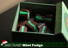 Santa's Favorite Mint Fudge Christmas Fudge, Christmas Cooking, Christmas Candy, Christmas Treats, Christmas Goodies, Christmas Time, Mint Fudge Recipe, Fudge Recipes, Candy Recipes