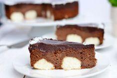 Čokoládová torta s kokosovo-tvarohovými guľkami