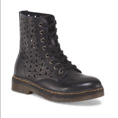 """Leather lace up boot Modern Rush leather Julie lace up boot.  1.25"""" heel... Perforated detail.  Size 5.5. Awesome boot...new in box Modern Rush Shoes Lace Up Boots"""