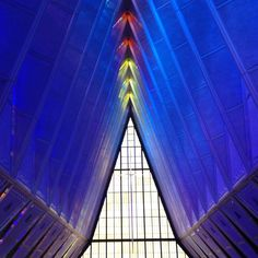 Air Force Academy Chapel, Colorado,1962. Colorado Springs