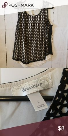 Dressy Tank Top Brand new without tags. Loose fitting. Perfect for a holiday party. Dress Barn Tops Tank Tops