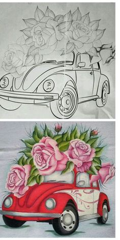 Embroidery Flowers Pattern, Hand Embroidery Designs, Fabric Painting, Diy Painting, Teapot Crafts, Mickey Mouse Pictures, Fabric Paint Designs, Fairy Crafts, One Stroke Painting