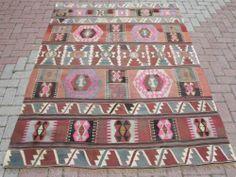 """Anatolia Turkish Antalya Nomads Kilim 63 7"""" x 85"""" Area Rug Kelim Carpet   eBay"""