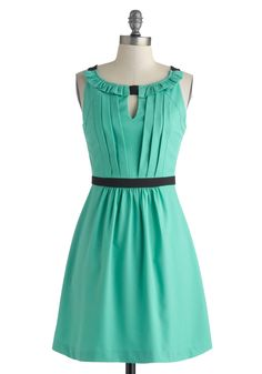 Wouldn't You Verdigris? Dress | Mod Retro Vintage Dresses | ModCloth.com