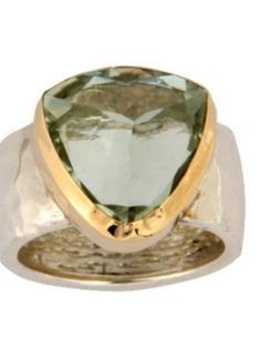 Carat Natural Green Amethyst Gemstone Two Tone Solid Yellow Goldand 925 Sterling Silver Statement Ring Set Setting, Gemstone ring Amethyst Gemstone, Gemstone Rings, Best Online Jewelry Store, Tourmaline Ring, Statement Rings, Silver Jewelry, Jewelry Rings, Jewelry Ideas, Jewelry Watches