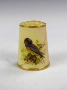 RARE Royal Worcester Blush Ivory Swallow Thimble C 1900 | eBay  Dec 15, 2013 / GBP 104.20