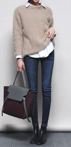 simple everyday style. working girl outfit.