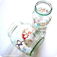re-use old jars and junk mail to make cute gifts!!