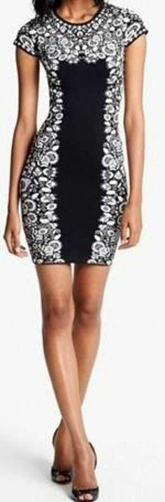 """BCBG  New """"Fabiana"""" Black  Sexy Power Dress NWT L VEG6Y455"""