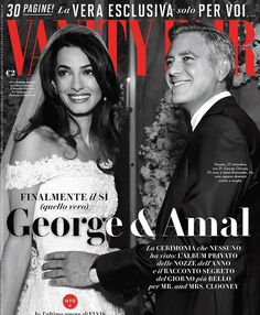 George Clooney and Amal Alamuddin on the cover of Vanity Fair Italy November 2014