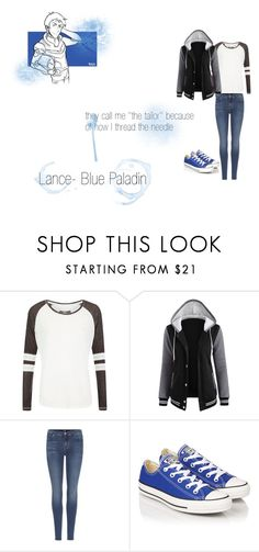 """Lance- Voltron"" by galauxyz ❤ liked on Polyvore featuring Superdry, 7 For All Mankind, Converse, Blue, lance, voltron and bluepaladin"