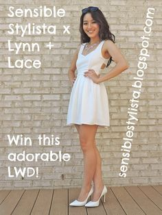 #sensiblestylista @LYNN + LACE #fashion #win #giveaway #littlewhitedress #lwd #cutouts #summerdress #dresses