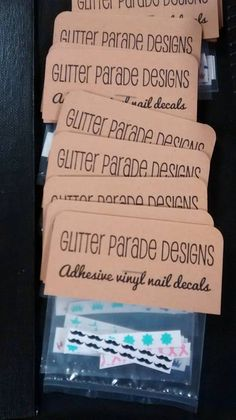Good way to package nail and car decals.