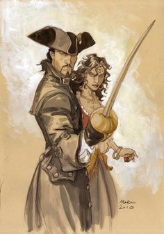 m Pirate Captain rapier hat mistress coastal urban desert jungle Le Scorpion : BD de Marini et Desberg