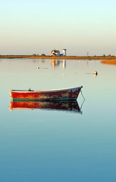 Love the Red boat and the house in the distance. A feeling a Peace! Chatham, Cape Cod Sunrise / by Chris Seufert New Hampshire, Chatham Cape Cod, Chatham Kent, Cape Cod Beaches, Am Meer, East Coast, New England, Places To See, Sailing