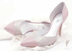 Buty ślubne VOLO - szpilki Marylin różowo-srebrne