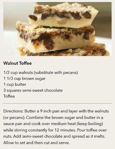 STAFF RECIPE | Walnut Toffee