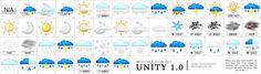 Weather Icon Set Unity 1.0 by Rago on DeviantArt
